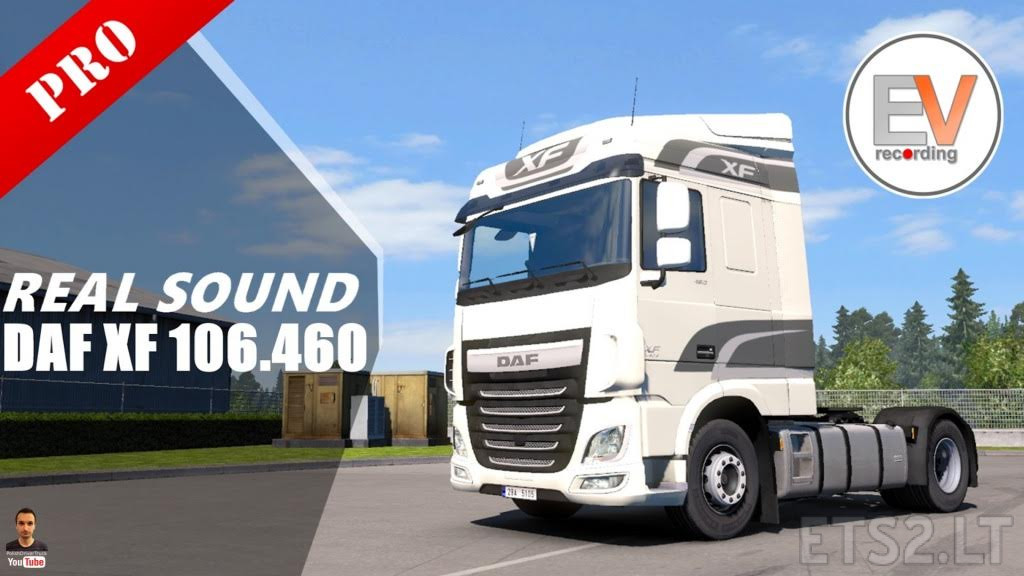 Authentic sound DAF XF 106 460 Euro 6 Paccar MX 13 340
