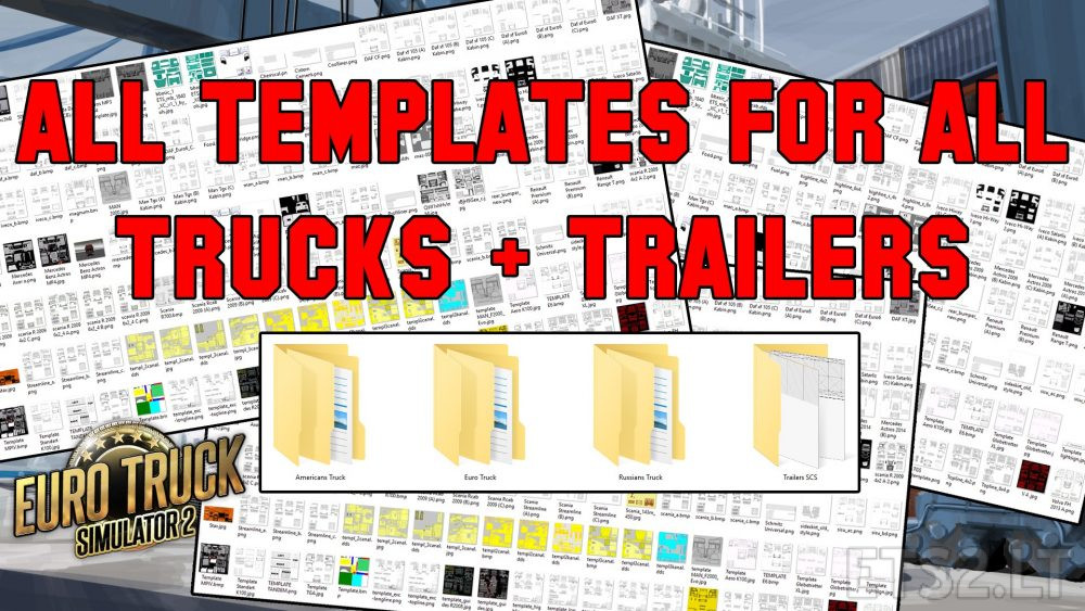 template all truck ets 2 mods