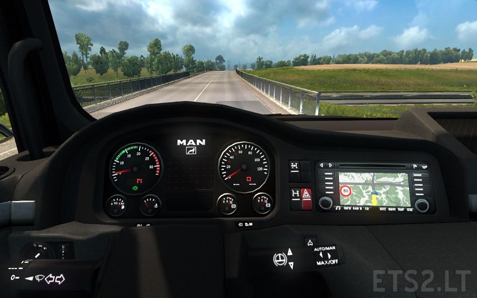 euro truck sim how to change dash guage