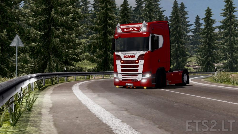 Graphic mod by Marty edited Wendigo for ETS 2 | ETS 2 mods