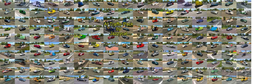 AI Traffic Pack by Jazzycat v 5 6 | ETS 2 mods