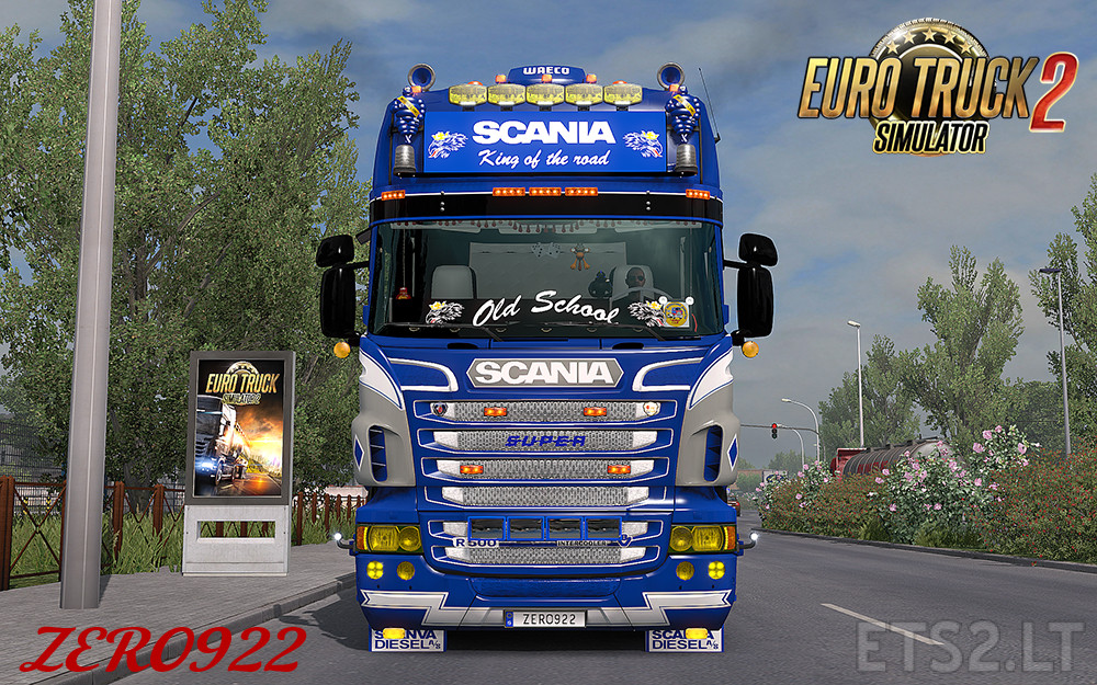 scania rs t rjl yellow headlights ets 2 mods. Black Bedroom Furniture Sets. Home Design Ideas