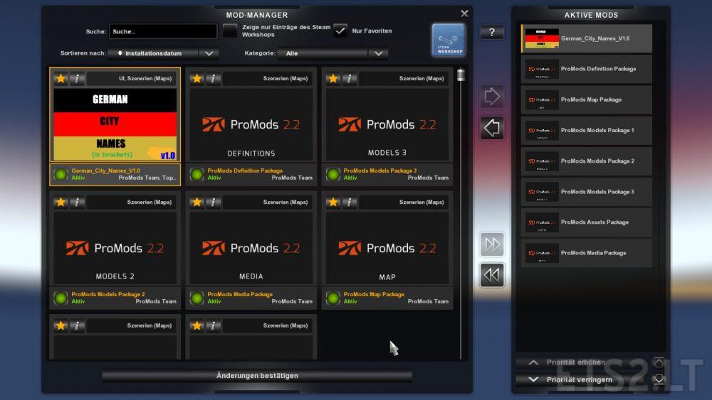 German City Names v 1 0 for Promods 2 20 | ETS 2 mods