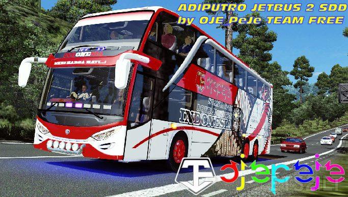 Mod Bus Adiputro Jetbus 2 Double Decker | ETS 2 mods