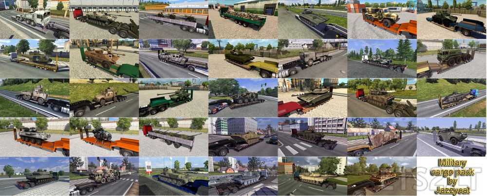 Military Cargo Pack by Jazzycat v 2 4 | ETS 2 mods