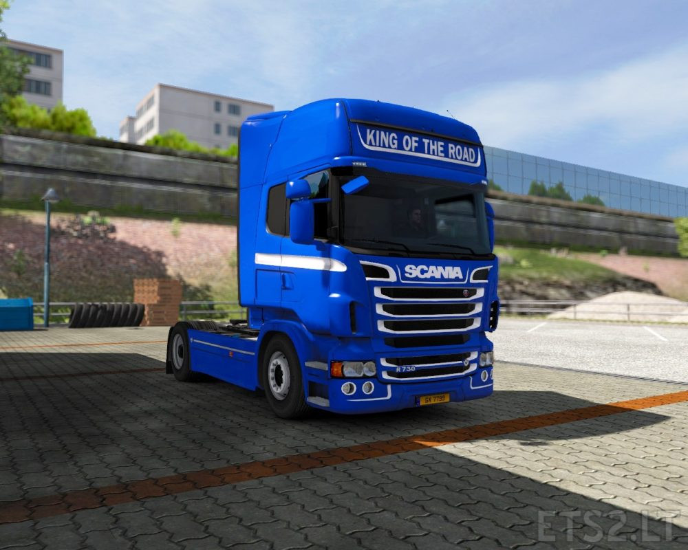 Blue – King of the road for Scania RJL | ETS 2 mods