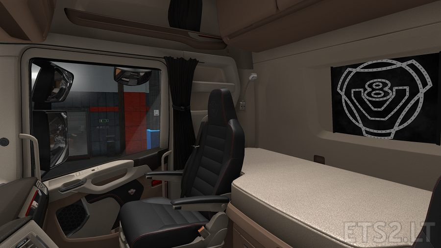 Scania New Generation Interior Beige | ETS 2 mods