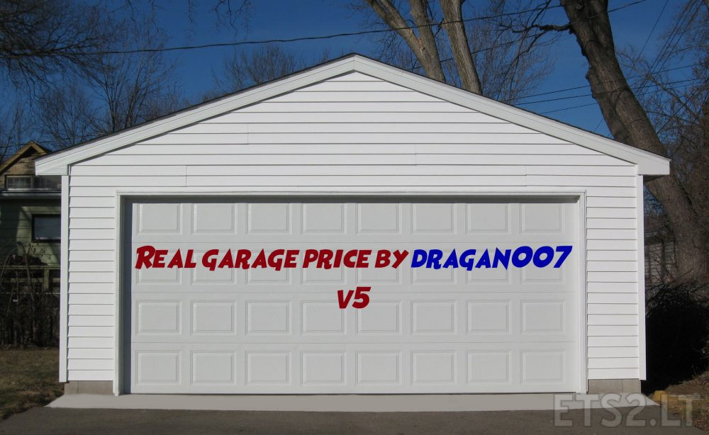 Real garage price by dragan007 v5 ets 2 mods for 2 5 car garage cost