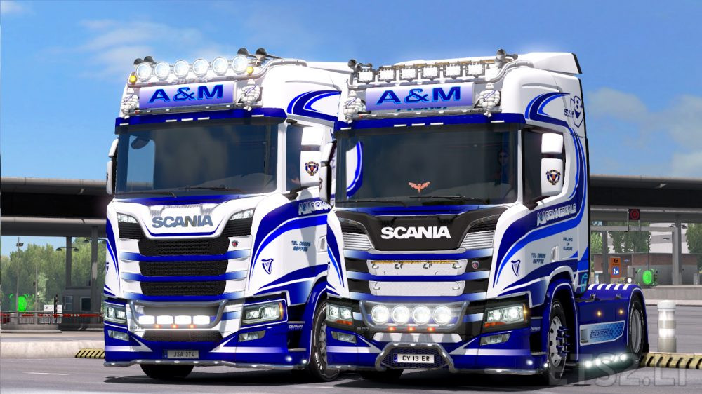 a m commercials for scania s and r new generation ets. Black Bedroom Furniture Sets. Home Design Ideas