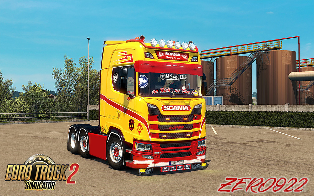 Scania S 2016 SCS Red & Beige Interior (In & Outside) | ETS