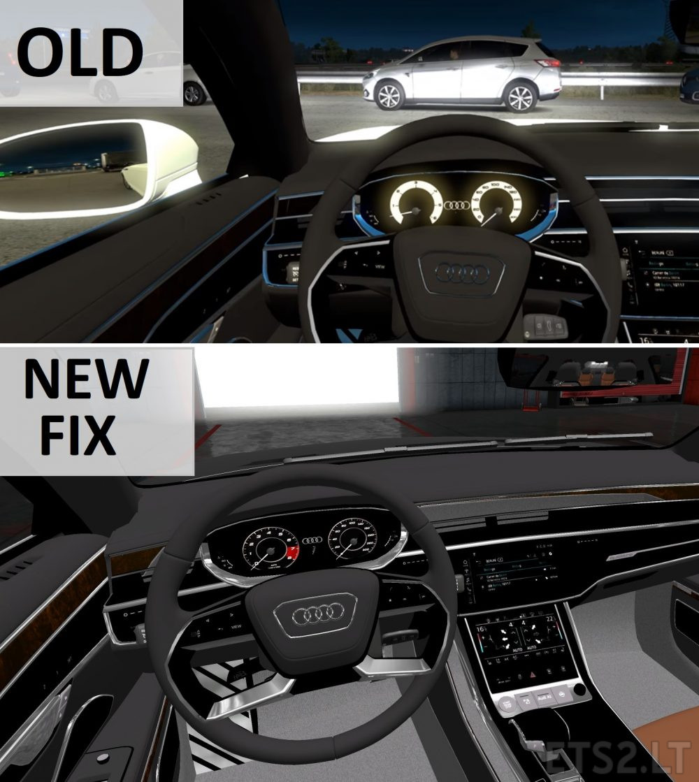 Audi A8 Long Fixed Interior Ets 2 Mods