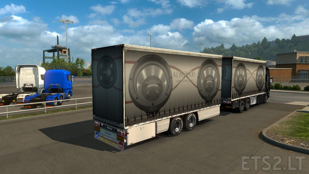 Kenwood Skin for Flemming V's BDF Tandem Truck Pack | ETS 2 mods