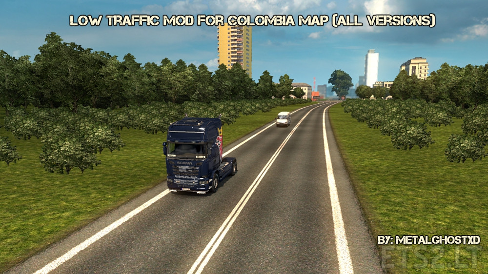 Low Traffic Mod for Colombia Map (All Versions) | ETS 2 mods