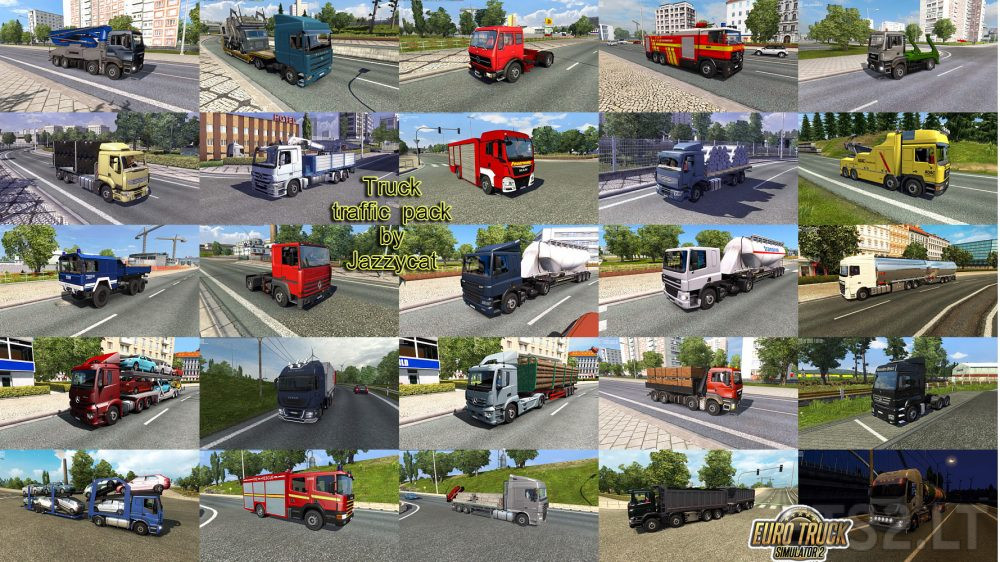 Truck Traffic Pack by Jazzycat v3 0 | ETS 2 mods