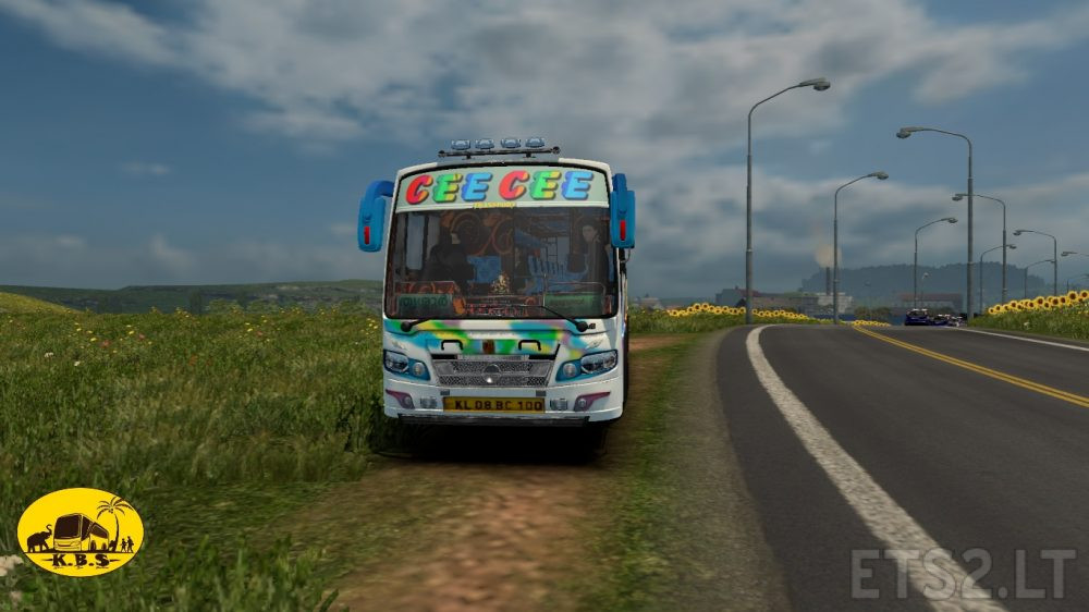 Kerala Bus CEE CEE Skin for Maruthi Model V01 | ETS 2 mods