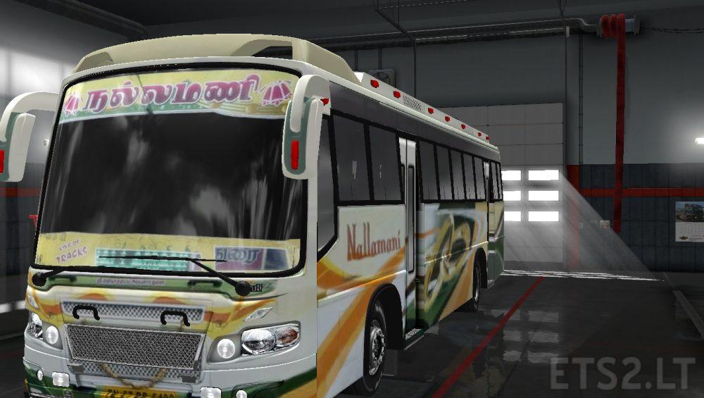 3 Tamilnadu Bus Skins for Maruti Bus Mod | ETS 2 mods