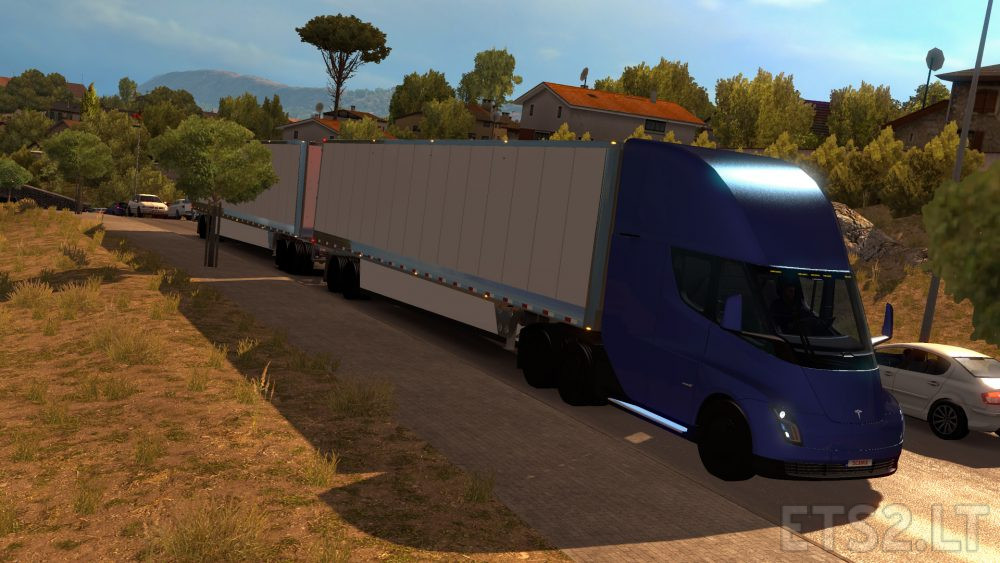 Tesla Semi Truck with Trailer 2019 ETS2 1 31 x | ETS 2 mods