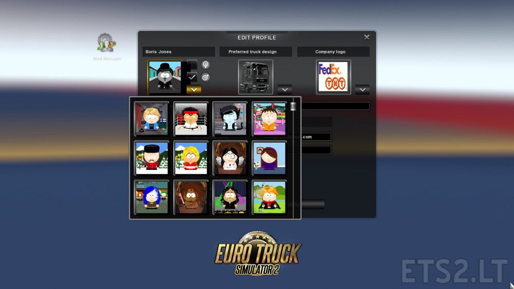 South Park Character Profile Pictures | ETS 2 mods