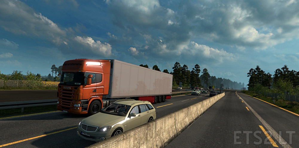 Realistic Traffic Density for 1 31+ | ETS 2 mods