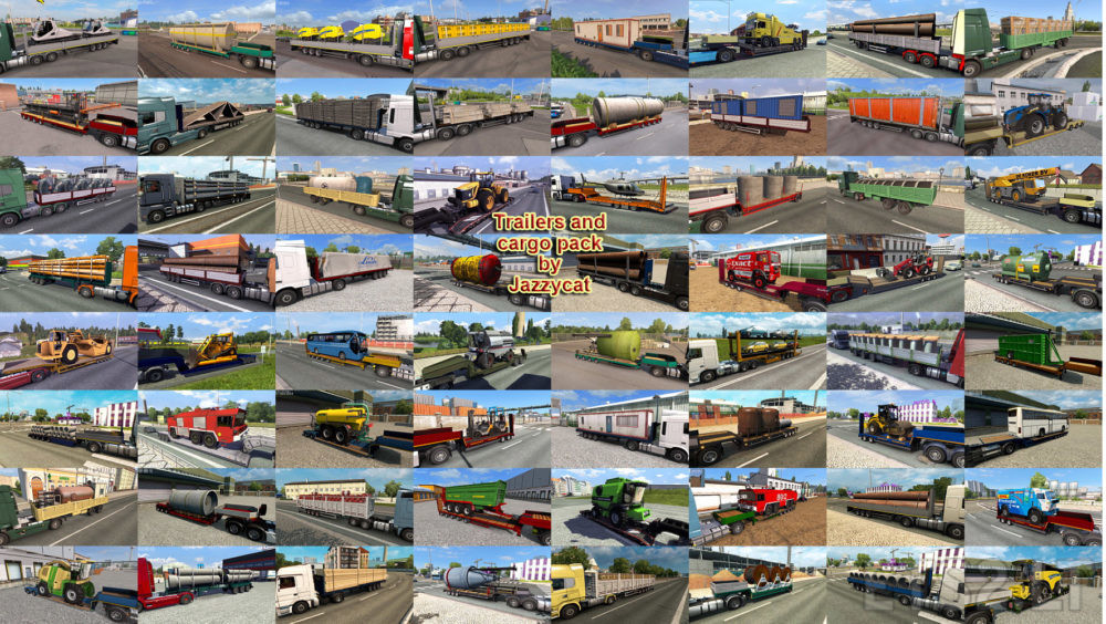 Trailers and Cargo Pack by Jazzycat v 7 4 | ETS 2 mods