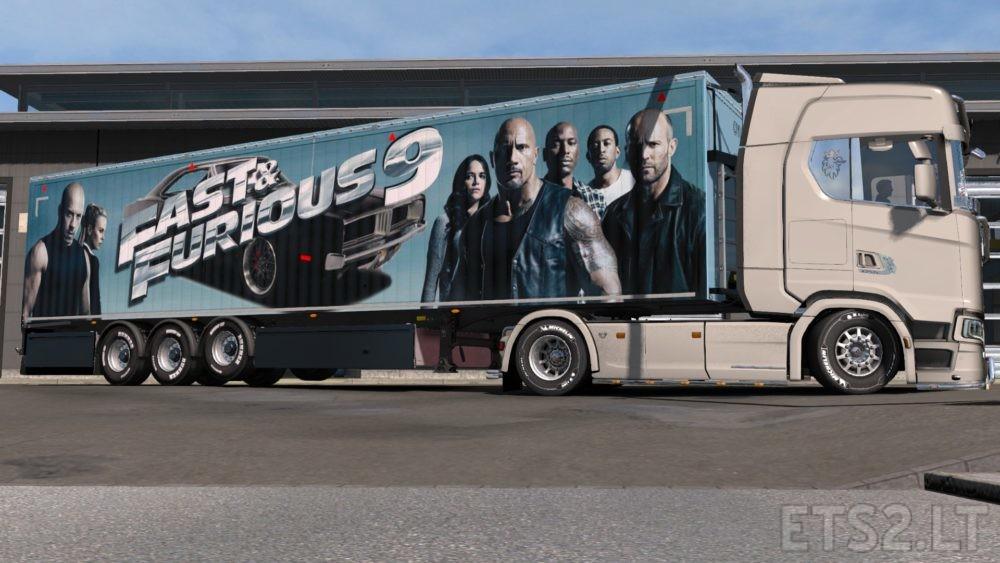 fast and furious 9 trailer skin ets 2 mods. Black Bedroom Furniture Sets. Home Design Ideas