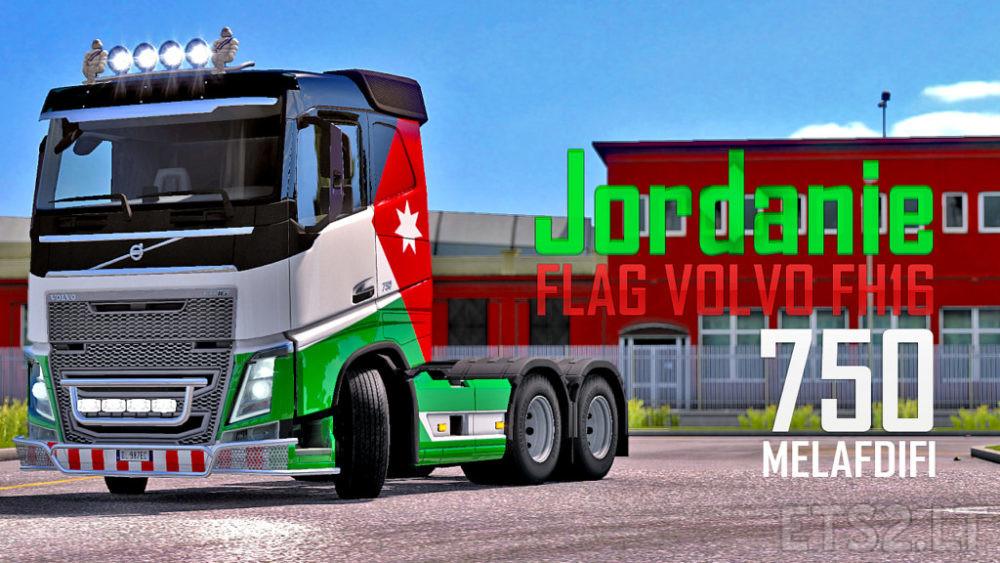 Skin Flag Jordanie Volvo FH16 For ETS2 1 32 | ETS 2 mods