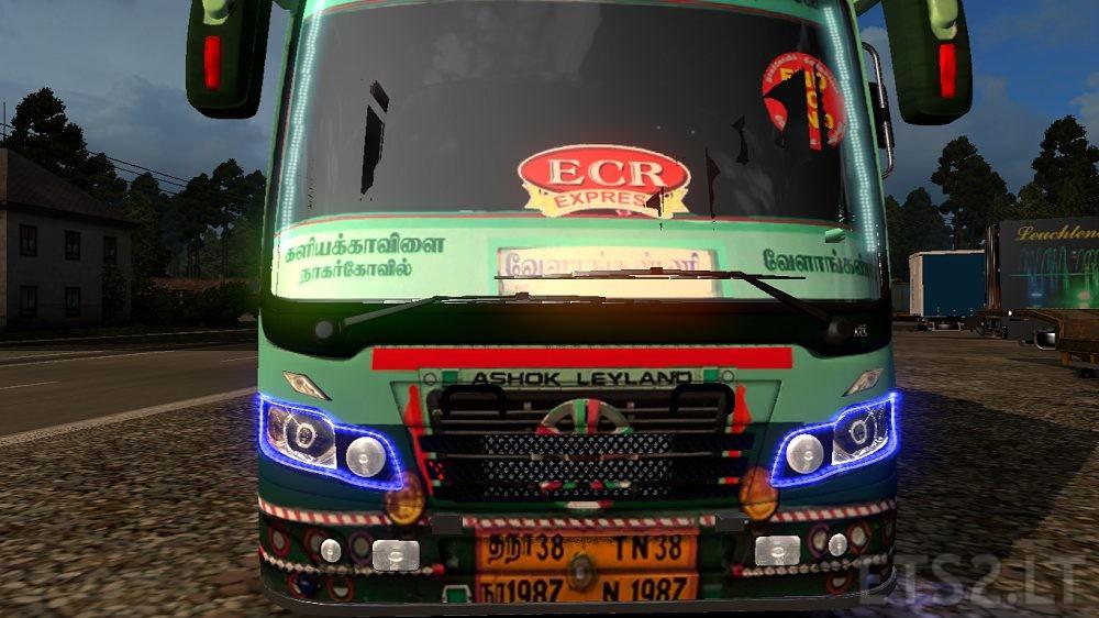 TNSTC Tamilnadu Bus Skin | ETS 2 mods