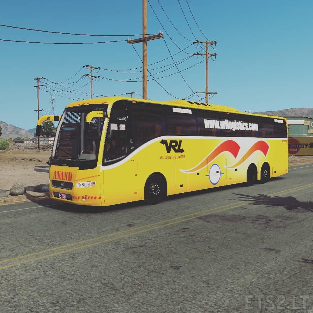 Vrl Travels Skin For Volvo 9700 Px Ets 2 Mods