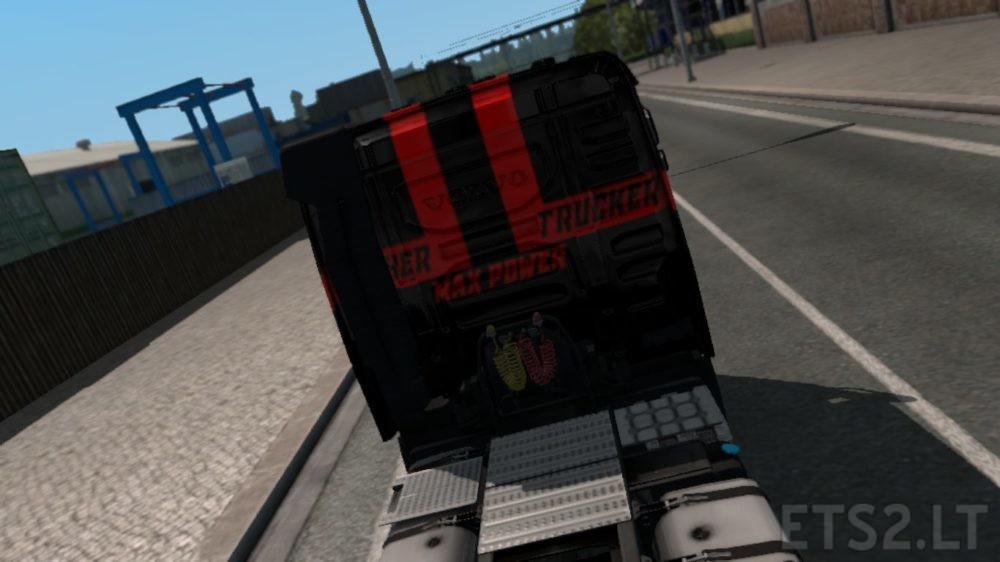 Black Widow Logistics Volvo Skin | ETS 2 mods