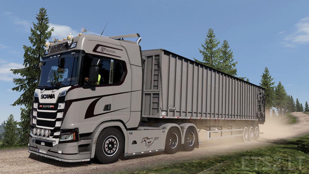 Scania S730 Grey Tone Skin | ETS 2 mods