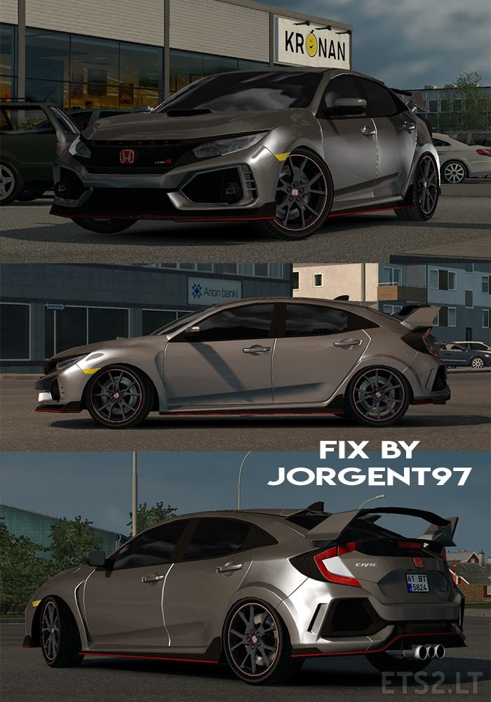 Fix Honda Civic 2017 typeR and Civic Fc5 | ETS 2 mods - Part 3