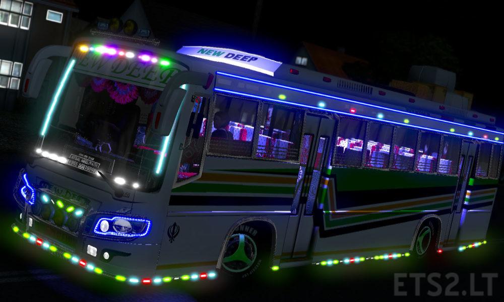 New Deep Bus Punjab Skin For Maruti V2   ETS 2 mods
