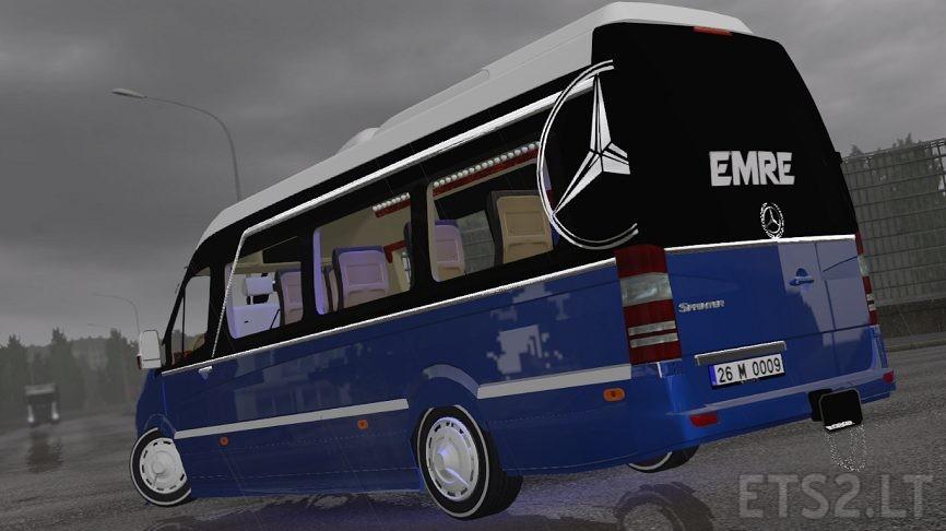 mercedes bus   ETS 2 mods