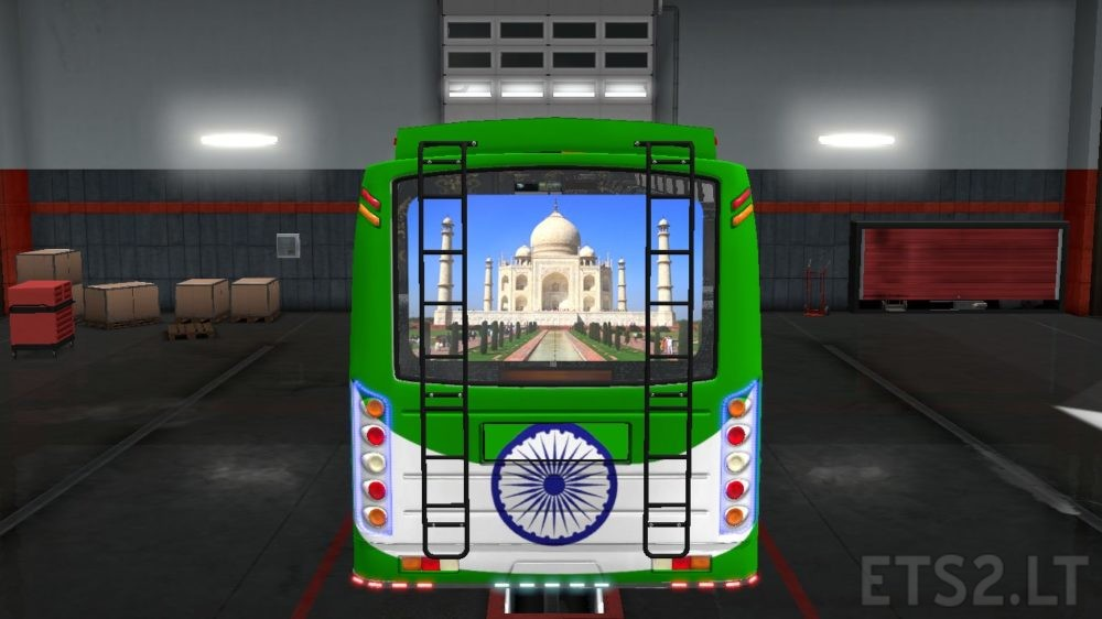 Indian Skins for Maruti Bus in ETS2   ETS 2 mods