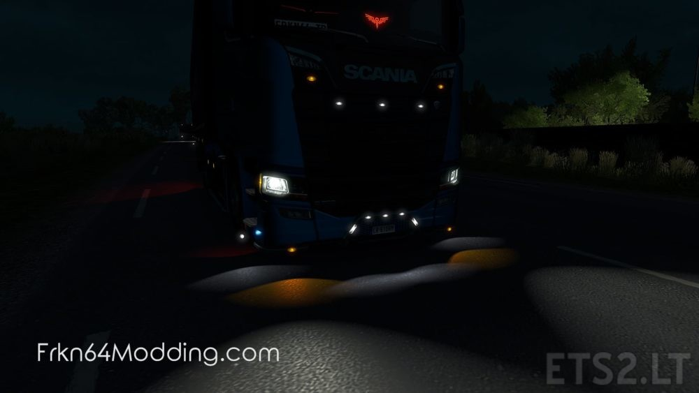 Non-Flared Vehicle Lights v 2 0 – by Frkn64 | ETS 2 mods