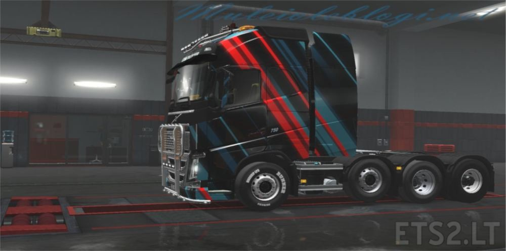 Abstract Volvo Skin Mod   ETS 2 mods