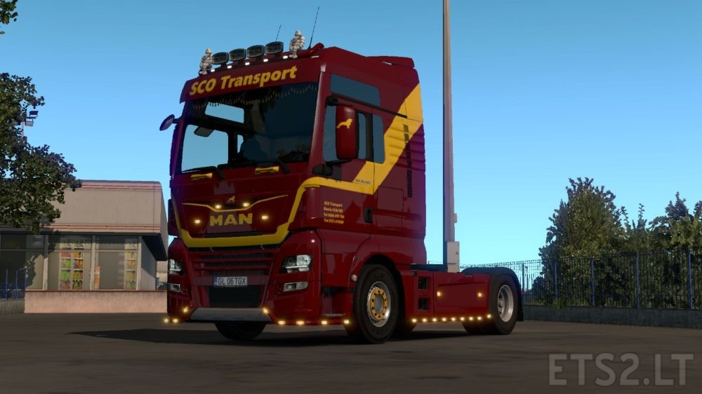 SCO Trasnport Skin for MAN Euro 6 | ETS 2 mods