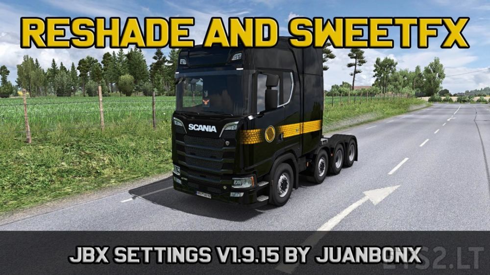 JBX Settings v 1 9 15 Reshade and SweetFX | ETS 2 mods