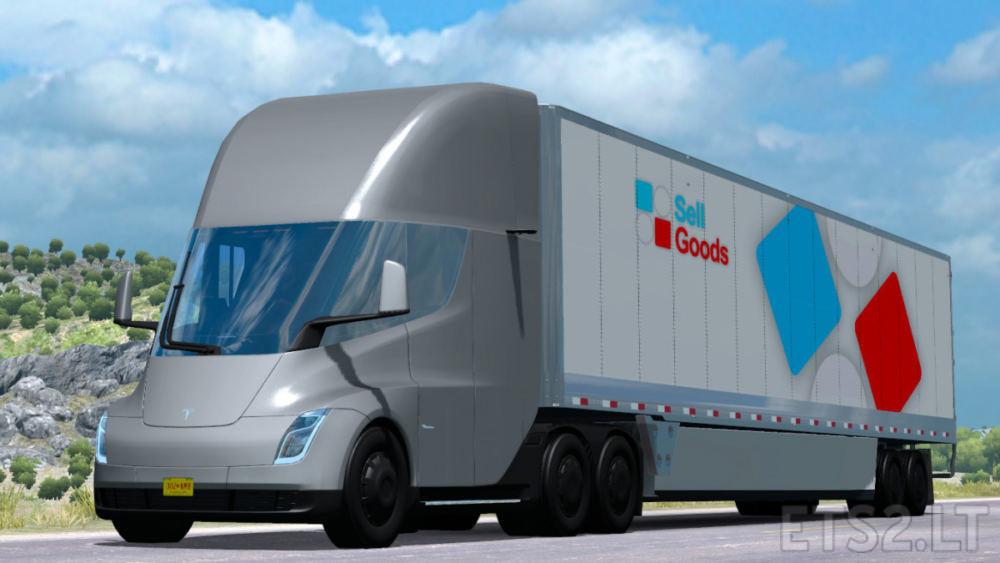 Tesla Semi Truck 2019 1 34 Ets 2 Mods