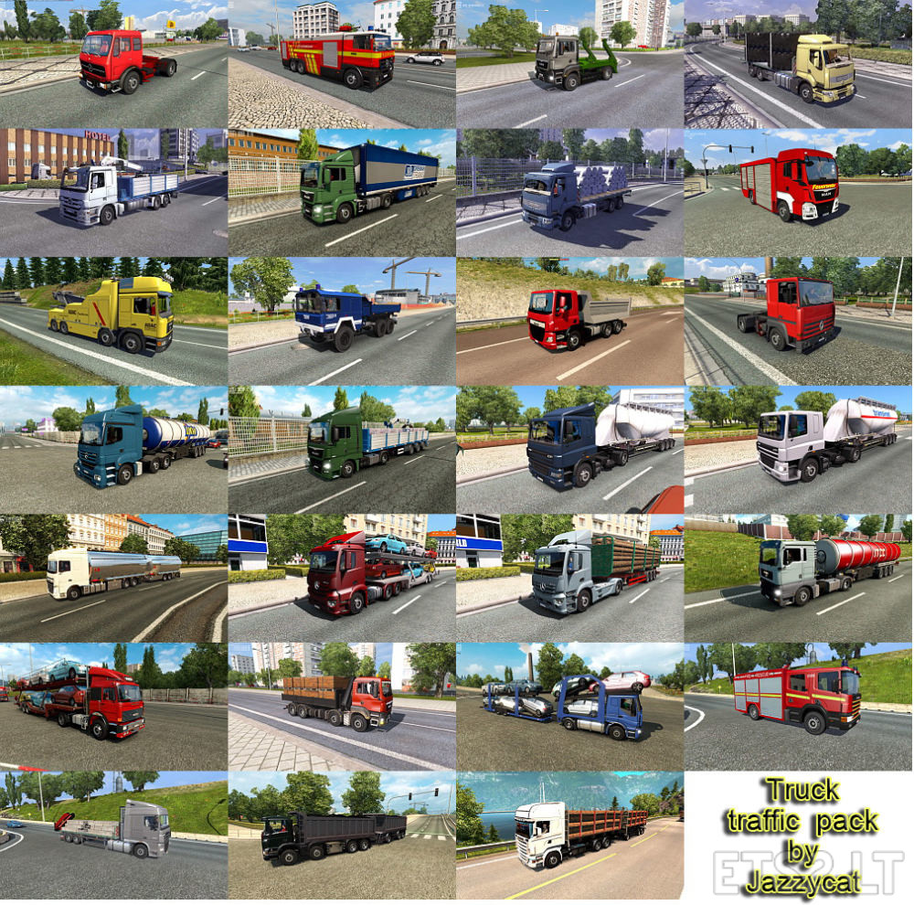 Truck Traffic Pack by Jazzycat v 3 5 2 | ETS 2 mods