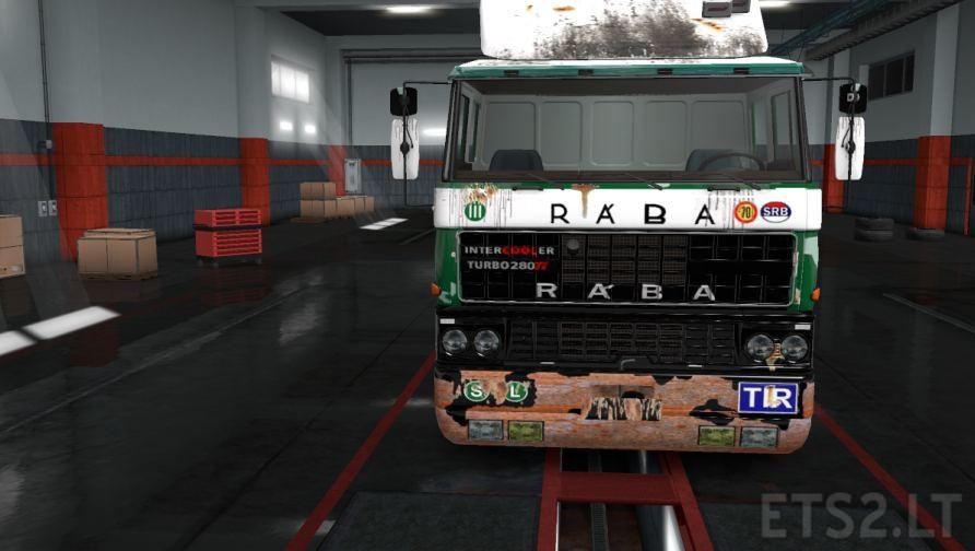 DAF F241 Raba Skin v 1 5   ETS 2 mods