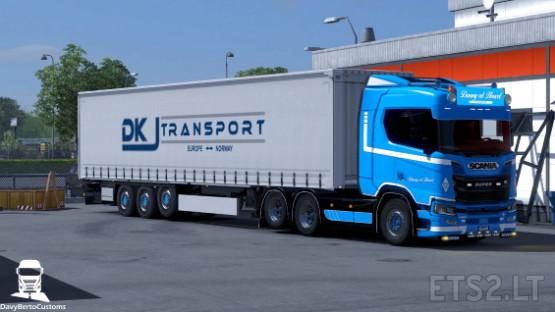 Scania R Next Gen Danny V D  Heuvel Combo | ETS 2 mods