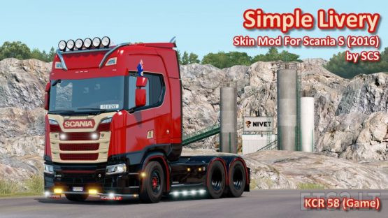 Simply Livery For Scania S (2016) by SCS (V1.0)
