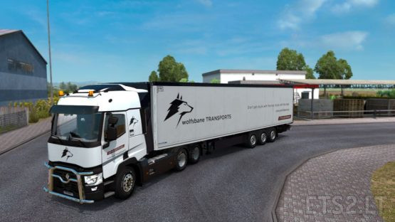 [1.36] #TruckAtHome wolfsbane TRANSPORTS Skin for Krone Trailer and SCS Renault T (v1.0)