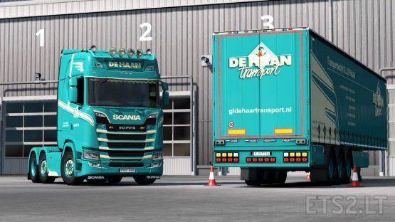 De Haan Transport combo for vanilla curtainsider trailer