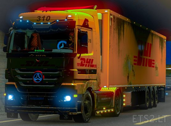Combo Skin Dirty DHL for Mercedes MP3 and own trailer