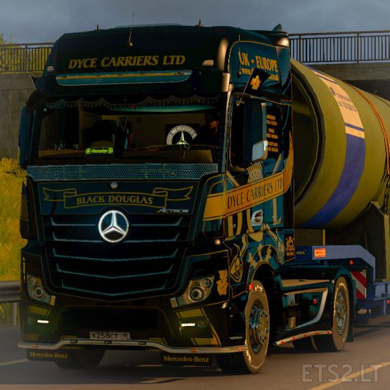 Skin Dyce Carriers for Mercedes Actros MP4 SCS