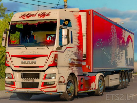 Combo Skin Holland for MAN TGX E6 and trailer Schwarzmuller