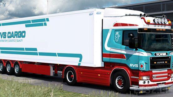 RVS Cargo RJL's Scania R 5-series and Ekeri Trailer Skinpack