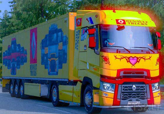 Combo Skin Renault Range T for Renault Range T and your trailer